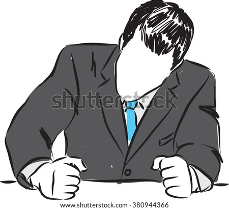 angry businessman illustration - stock vector