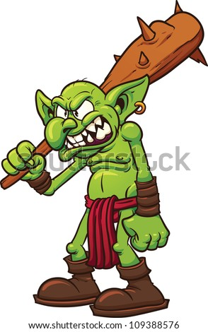 Clip Art Troll Clipart crazy cartoon troll vector clip art stock 189945038 angry illustration with simple gradients all in a single layer