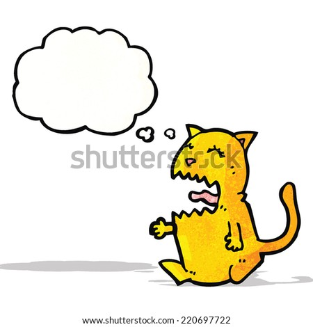 angry cat cartoon - stock vector