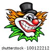 Angry circus clown or joker in cartoon style. Jpeg version also available in gallery - stock vector