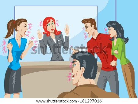 Angry customers - stock vector