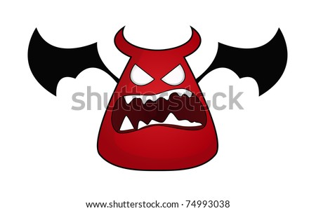 Angry Imp Cartoon character - stock vector