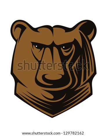 Angry wild bear. Jpeg version also available in gallery - stock vector