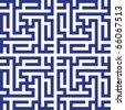 Angular Kufic pattern - stock vector