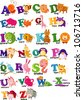 ANIMAL ALPHABET LETTER - A-Z - stock vector