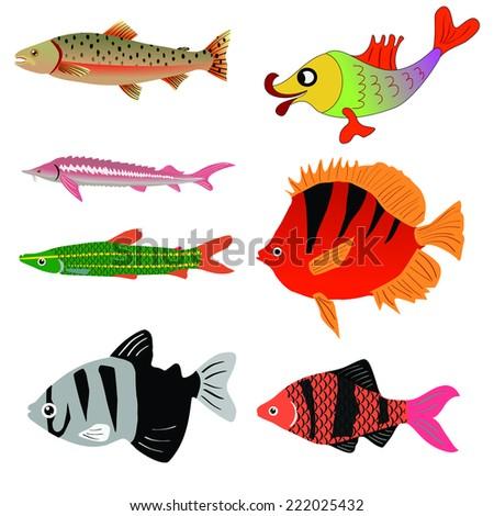animal, aqua, aquarium - stock vector