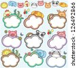 Animal Cloud Frames Set 2 (More animal frames are available) - stock photo