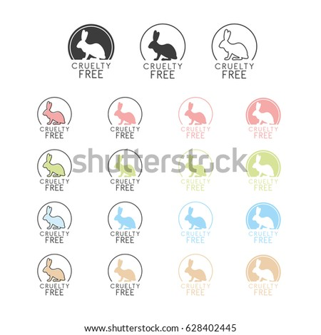 Animal Cruelty Free Symbol Can Be Stock Vector 628402445 Shutterstock