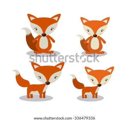 animal cute design, vector illustration eps10 graphic  - stock vector