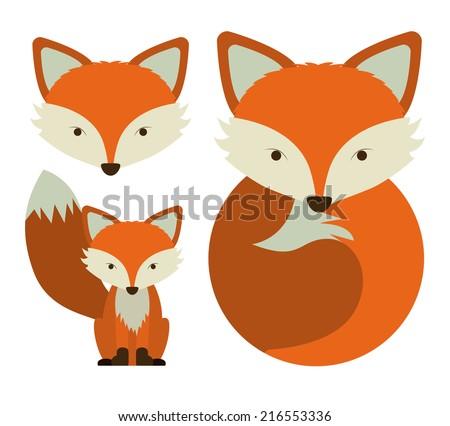 Animal design over white background, vector illustration - stock vector