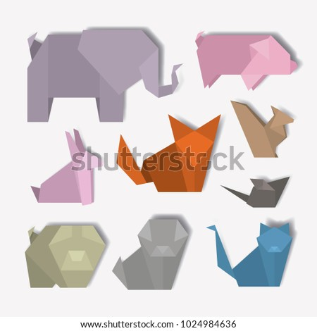 animal Digital Crafts set icons