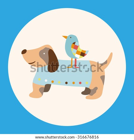 animal dog cartoon theme elements