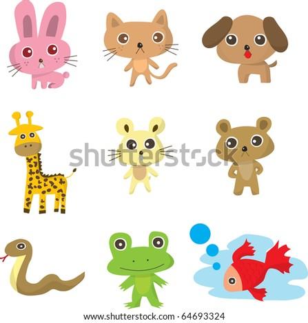animal doodle - stock vector