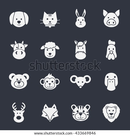 animal face set