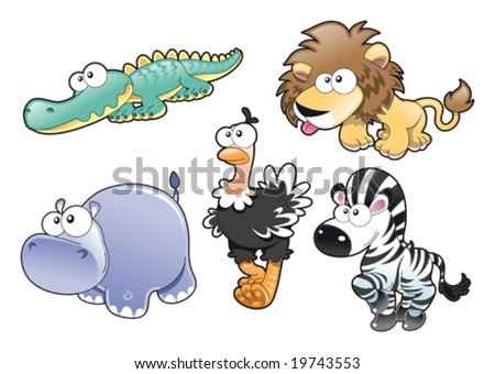 Animal Family - stock vector