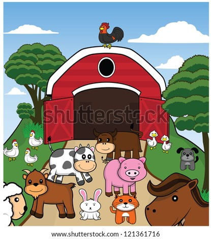 animal farm - stock vector