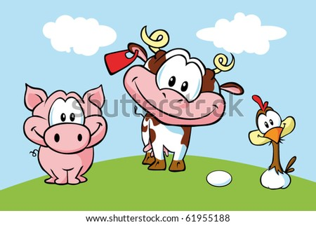 animal farm - stock vector