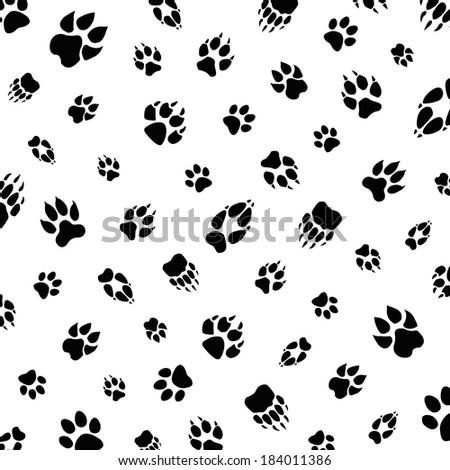 Animal foot prints patterns - photo#16