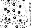 Animal footprint seamless vector pattern.  For easy making seamless pattern just drag all group into swatches bar, and use it for filling any contours. - stock vector