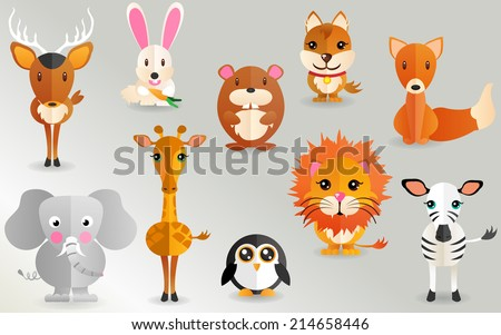 Animal Icons - stock vector