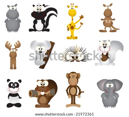Animal icons (vector) - stock vector