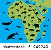 animal of africa - stock vector