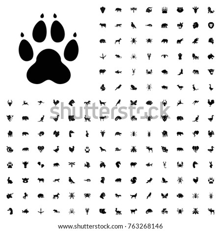 Animal paw icon illustration isolated vector sign symbol. animals icon set for web and mobile.
