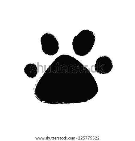 animal paw print. vector illustration - stock vector