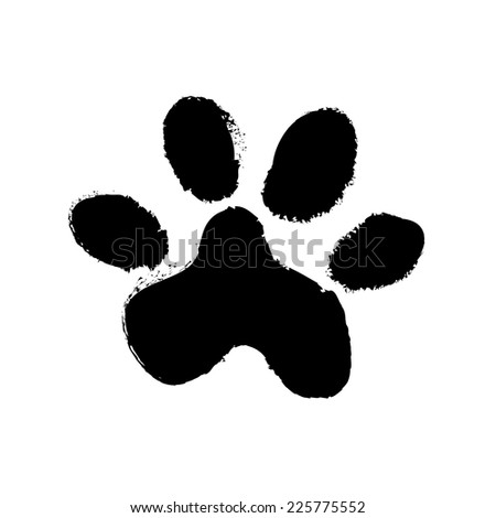 animal paw print. vector illustration - stock vector