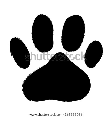 animal paws print. abstract vector illustration - stock vector