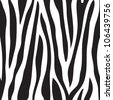 Animal print, zebra texture black and white colors - stock vector