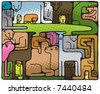 Animal Puzzle (vector). In the gallery also available XXL jpeg image made from this vector - stock vector