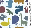 animal seamless pattern - stock vector