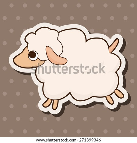 animal sheep cartoon theme elements - stock vector