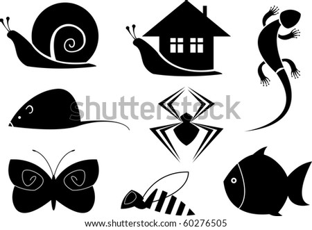 animal symbols - stock vector