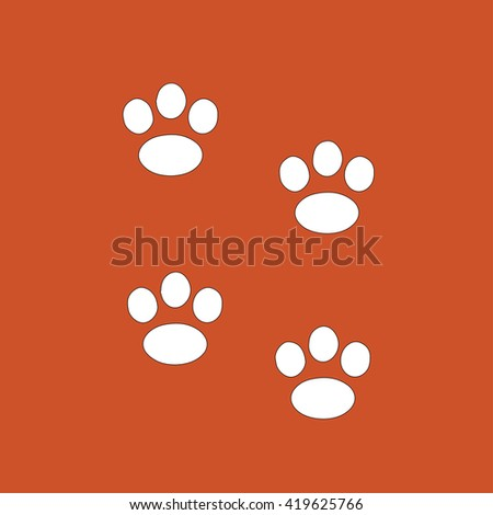 Animal Tracks. Vector illustration line icon