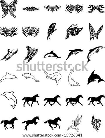 Animal tribal - stock vector