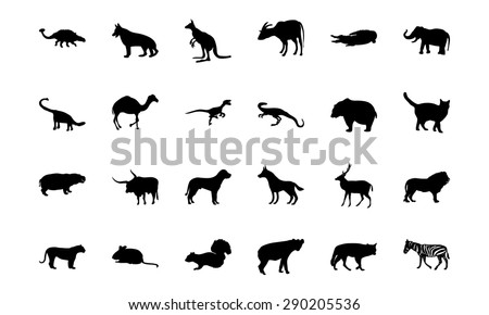 Animal Vector Icons 2 - stock vector