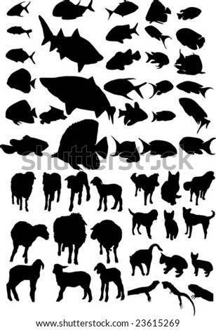 Animal vector silhouettes