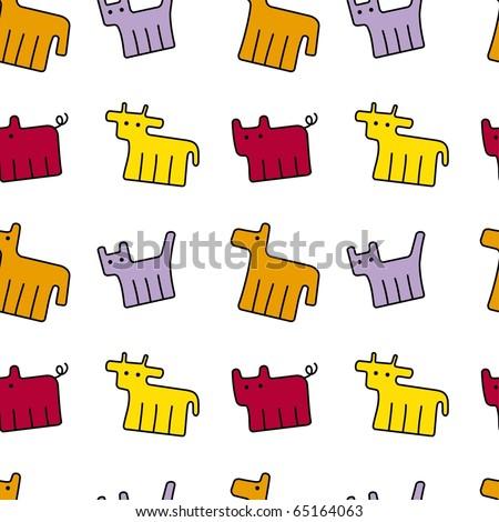 animal wallpaper - stock vector