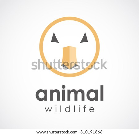 Animal wildlife face abstract vector logo design template zoo business icon company identity symbol concept
