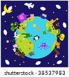 animal world - stock vector