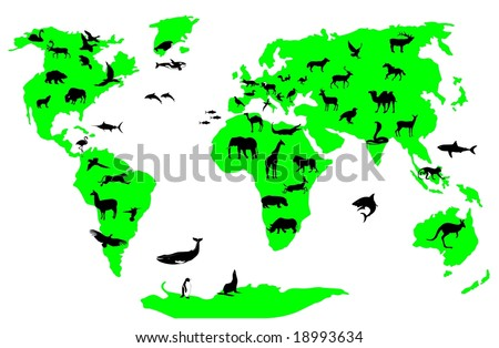 animal world vector file - stock vector