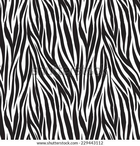 animal zebra print trendy fabric design, seamless swatch element included - stock vector