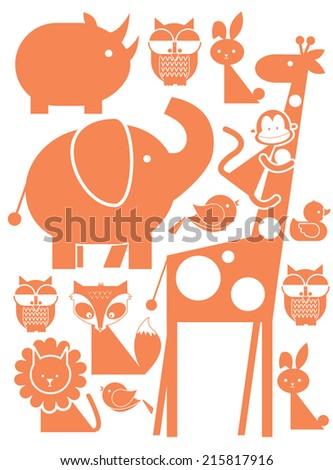 animals/baby vector/illustration - stock vector