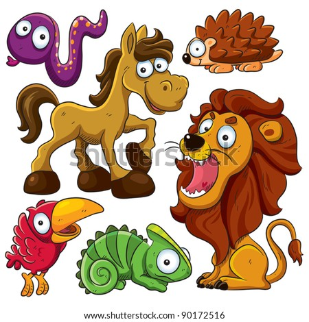 Animals Collection - stock vector