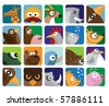 Animals set icon - stock vector