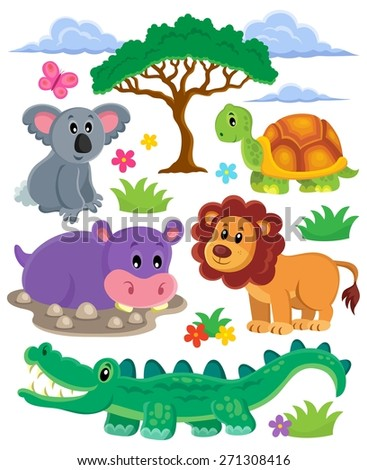 Animals topic collection 1 - eps10 vector illustration. - stock vector