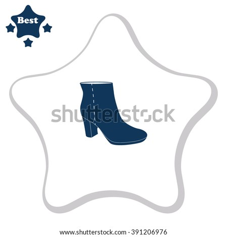 Ankle Boots vector icon.