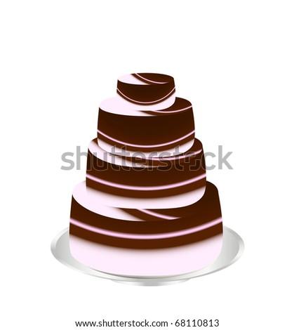 anniversary cake - stock vector